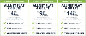 Freenet Mobile Tarife im Vodafone LTE Netz ab 7,49€   Angebote 2019