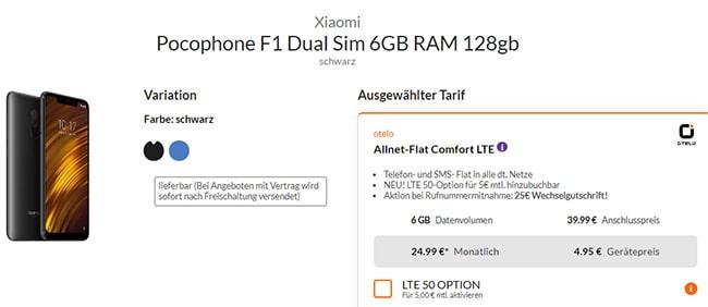 otelo Allnet-Flat Comfort (bis zu 6GB Vodafone LTE) ab 24,99€ mit Handy ab 1€