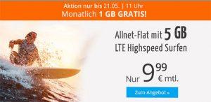 sim.de Allnet Flat Tarife | 2GB für 6,99€ | 5GB für 9,99€ | 6GB für 14,99€ 1