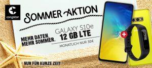 Congstar Allnet Flat Plus (bis zu 12GB LTE) ab 30€ pro Monat mit TOP-Smartphones