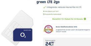 green LTE 2go - unlimitierte Internet Flat ohne Begrenzung für 24,99€