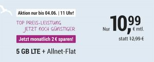Simply Allnet Flat 5GB LTE Allnet Flat für 10,99€