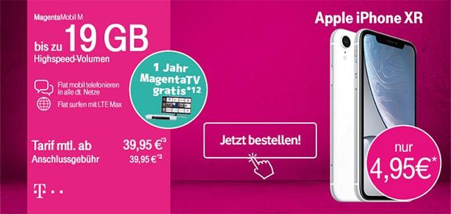 Bis zu 19GB LTE | Telekom Magenta Mobil M (Young) mit TOP Handy ab 1€