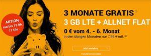 winSIM 3GB LTE Allnet Flat für rechnerisch 6,13€ - Angebote 2019