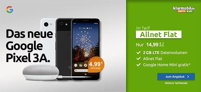 Klarmobil AllNet Flat bis zu 8GB (LTE) ab 14,99€ mit TOP Smartphones ab 1€