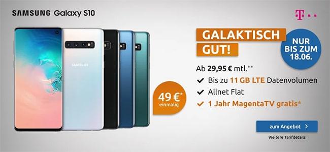 Telekom Magenta Mobil S (Young) ab 24,95€ mit Handy ab 1€ | bis zu 11GB LTE