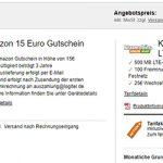 Klarmobil Telekom LTE Vertrag - 500MB mit 100 Minuten für 2,99€ + 15€ Amazon Gutschein