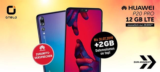 12GB otelo Allnet-Flat Max ab 29,99€ (Vodafone LTE Netz) mit TOP-Smartphones ab 1€