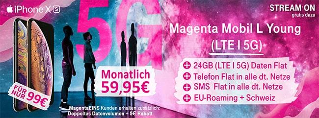 Telekom Magenta Mobil L (Young) ab 54,95€ mit Apple iPhone 11 (128GB) für 4,95€ | Galaxy S20 (Plus) ab 4,95€
