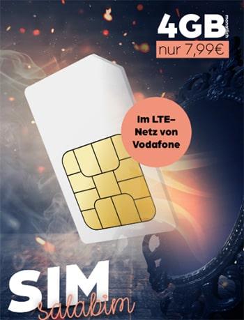 Allmobil otelo - Vodafone LTE Allnet Flat mit 4 GB für 7,99€