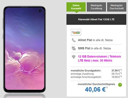 12GB Klarmobil AllNet Flat Telekom LTE ab 29,99€ mit Handy ab 4,95€