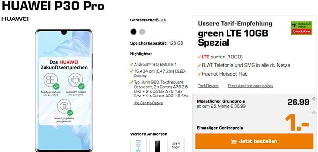 MD Green 10GB Vodafone LTE für 26,99€ mit Huawei P30 Pro für 1€ uvm.