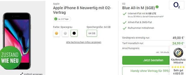 o2 Blue All in M (bis zu 6GB LTE) ab 19,99€ / Monat mit Huawei P20 Pro für 4,95€ uvm.