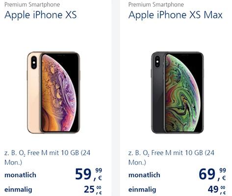 o2 Free M (bis zu 20GB LTE ) mit Apple iPhone Xs (Max) ab 25€