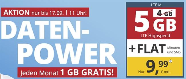 5GB PremiumSIM LTE Allnet Flat für 9,99€ | ohne Laufzeit
