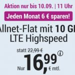 Simply 10GB LTE Allnet Flat für 16,99€ | mit und ohne Laufzeit