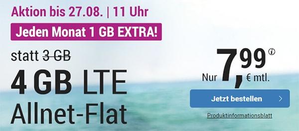 Simply 4GB LTE Allnet Flat für 7,99€ | mit und ohne Laufzeit