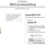 Vodafone DataGO M & DataGO L (bis zu 16GB LTE) mit bis zu 380€ Auszahlung
