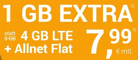winSIM 4GB LTE Allnet Flat für 7,99€ - ohne Laufzeit