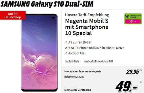 MD Telekom Magenta Mobil S 6GB LTE für 29,95€ mit Galaxy S10 für 49€