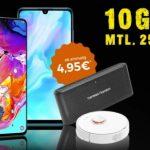 Congstar Allnet Flat Plus (10GB LTE) ab 25€ mit Galaxy A70 für 1€, Xiaomi Mi 9T Pro für 39,95€, PS4 Pro + Fifa 20 für 4,99€ uvm.