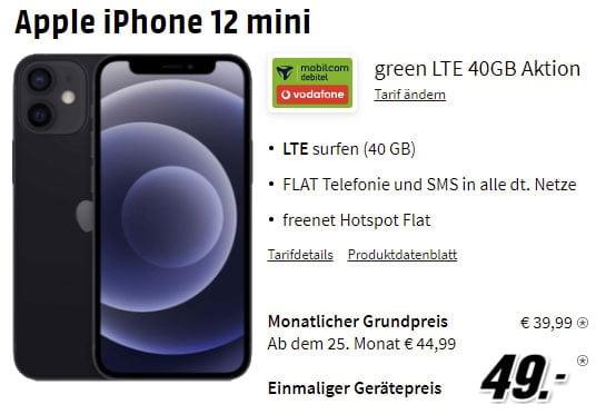 MD Green Vodafone LTE 40 GB ab 39,99€ mit Xiaomi Mi 11 5G für 1€ | iPhone 12 ab 49€ | Galaxy S21+ für 99€