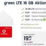 MD Green Vodafone LTE 16GB LTE für 19,99€   SIM-Only