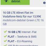 MD Green Vodafone LTE 16GB LTE für 13,99€ | SIM-Only