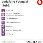 Vodafone Young M Tarif mit Handy ab 1€