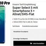 MediaMarkt Super Select 3GB LTE für 14,99€ mit ZTE Axon 10 Pro für 29€