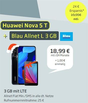 Blau Allnet L (bis zu 4GB LTE) ab 9,99€ mit Huawei P Smart 2019 für 1€ | Xiaomi Pocophone F1 für 19,95€