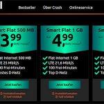 Crash Smart Tarife - Telekom / Vodafone LTE Netz ab 3,99€ pro Monat