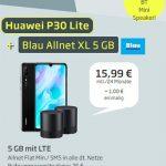 Blau Allnet XL (5GB LTE) ab 15,99€ | TOP Deal: Huawei P30 lite für 1€