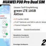 18GB MD Green Vodafone LTE Tarif ab 21,99€ mit Huawei P30 für 29€, Sony Xperia 5 für 9€