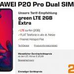 Huawei P20 Pro für 29€ mit MD Green Telekom / Vodafone 2GB Tarif für 11,99€ (effektiv -1,84€)