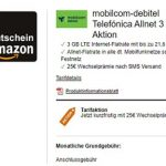 MD Telefónica Allnet 3GB für 6,99€ oder 5GB für 9,99€ + 15€ / 25€ Amazon Gutschein | ohne Laufzeit