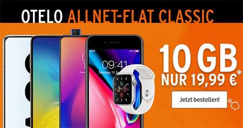 otelo Allnet-Flat Classic (10GB LTE) ab 19,99€ mit Xiaomi Redmi Note 8 Pro, Galaxy A70 für 4,95€ uvm.