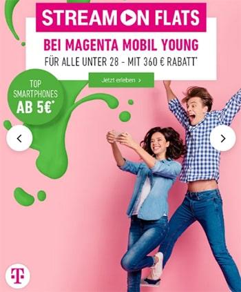 Telekom Magenta Mobil M (Young) Tarife (bis zu 24GB Flat) mit iPhone 11 (128GB) ab 1€
