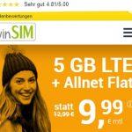 winSIM 5GB LTE Allnet Flat für 9,99€ | ohne Laufzeit