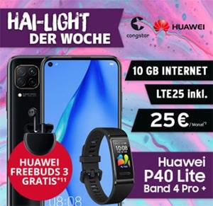Congstar Allnet Flat Plus (10GB LTE) ab 25€ mit Galaxy A51, Huawei P40 lite, Bundle Dealz ab 4,95€