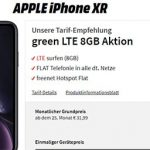 8GB MD Green Telekom LTE Tarif ab 16,99€ mit iPhone Xr ab 1€, Xiaomi Mi 9T Pro für 0,99€, iPhone Xs ab 39,99€ uvm.