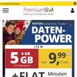 5GB PremiumSIM LTE Allnet Flat für 9,99€   ohne Laufzeit