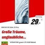 Xiaomi Mi Note 10 Pro für 49€ mit MD Green Vodafone 6GB Tarif für 19,99€
