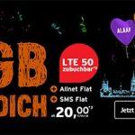 8GB Congstar Allnet Flat ab 20€ mit Handy ab 4,95€   Telekom LTE Netz