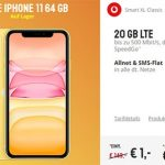 25GB LTE Vodafone Smart XL ab 41,99€ mit iPhone 11 ab 1€, iPhone Xs ab 4,95€, OnePlus 7T für 4,95€, Galaxy S20 ab 99€