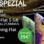 Klarmobil AllNet Flat Vodafone LTE (5GB) für 29,99€ mit Apple iPhone Xs für 39€