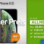Klarmobil AllNet Flat Vodafone LTE (5GB) für 29,99€ mit Apple iPhone Xs für 39€ (effektiv 5€ pro Monat)