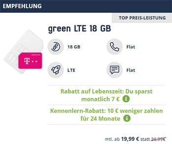 Mobilcom Debitel Green LTE Allnet Flat Tarife im Überblick | Telekom und Vodafone Netz | bis zu 26GB LTE