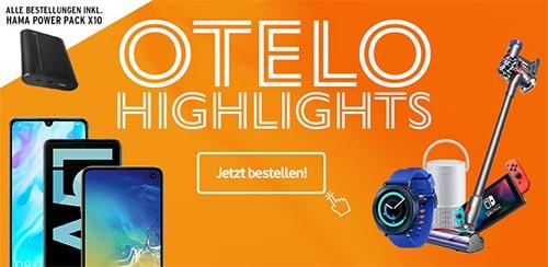 otelo Allnet-Flat Classic (10GB LTE) ab 19,99€ mit Galaxy A51, Xiaomi Mi 9T für 4,95€, Huawei P30 für 9€, Realme X2 ab 49,95€