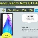 Blau Allnet L (bis zu 5GB LTE) ab 9,99€ mit Galaxy A20e für 49€   Xiaomi Redmi Note 8T, Google Pixel 3a für 1€